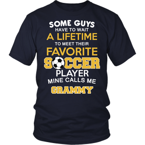 """Favorite Soccer Player - Mine Calls Me Grammy"" T-Shirt"