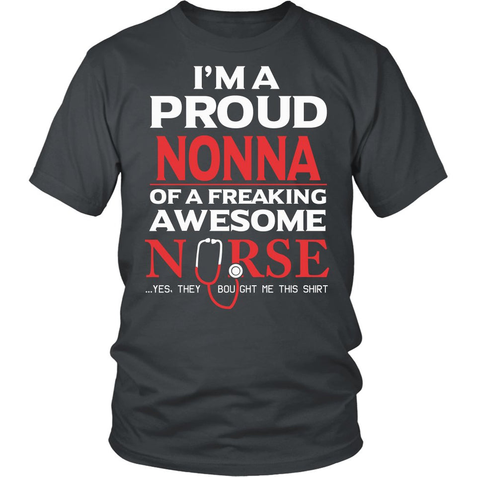Proud Nonna of An Awesome Nurse T-Shirt