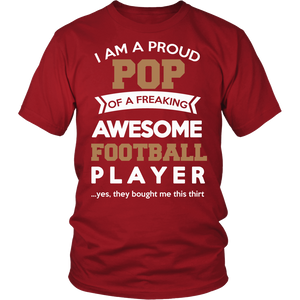 Proud Pop of An Awesome Football Player T-Shirt