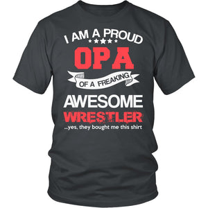Proud Opa of An Awesome Wrestler T-Shirt