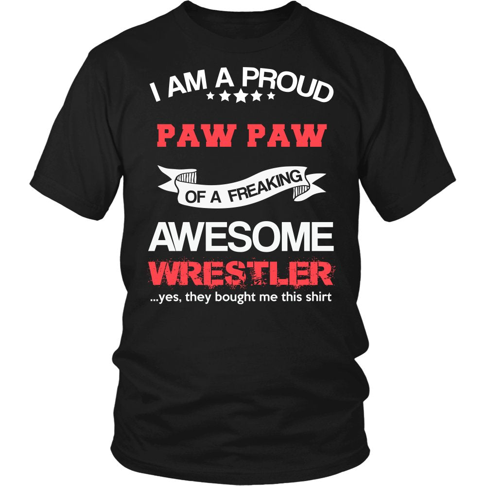 Proud Paw Paw of An Awesome Wrestler T-Shirt