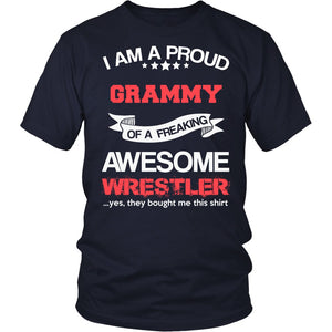 """Proud Grammy of An Awesome Wrestler"" T-Shirt"