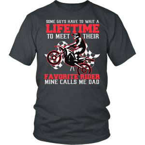 Favorite Motocross Rider - Mine Calls Me Dad T-Shirt