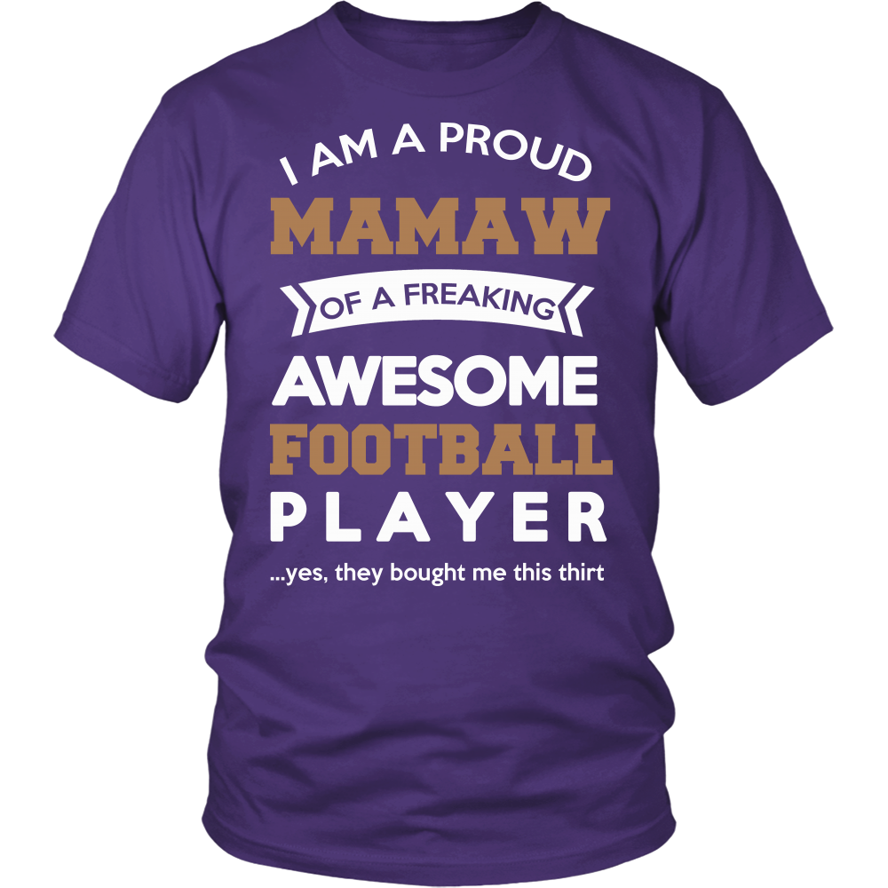 Proud Mamaw of An Awesome Football Player T-Shirt