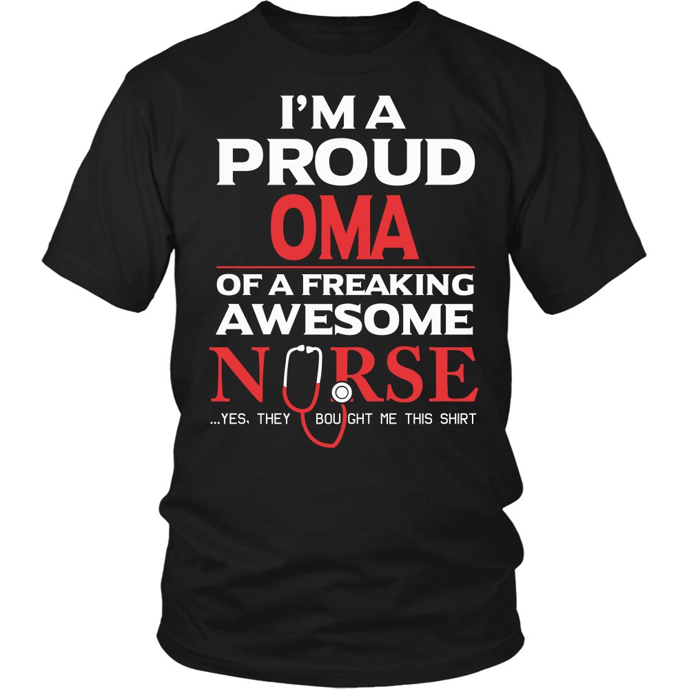 Proud Oma of An Awesome Nurse T-Shirt