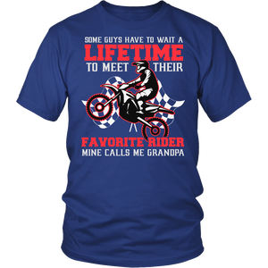 Favorite Motocross Rider - Mine Calls Me Grandpa T-Shirt