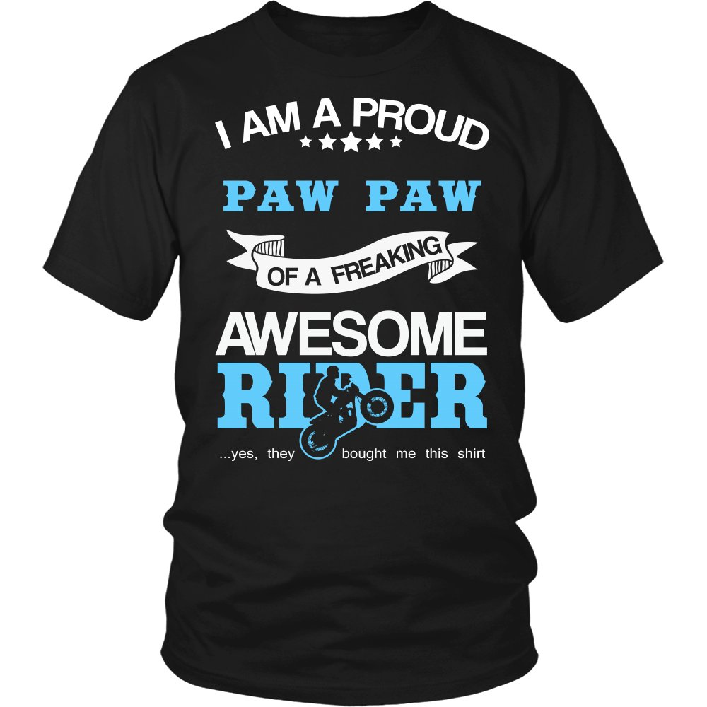 Proud Paw Paw of An Awesome Motocross Rider T-Shirt