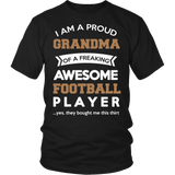 """Proud Grandma of An Awesome Football Player"" T-Shirt"