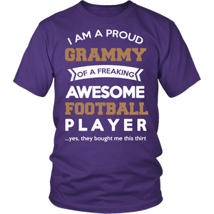 """Proud Grammy of An Awesome Football Player"" T-Shirt"