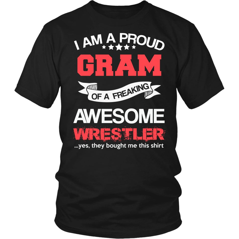 Proud Gram of An Awesome Wrestler T-Shirt