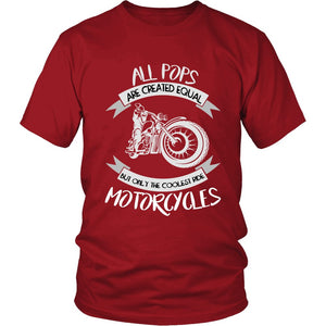 Only The Coolest Pops Ride Motorcycles T-Shirt