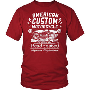American Custom Motorcycle Road Tested T-Shirt