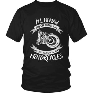 """Only The Coolest Memaw Ride Motorcycles"" T-Shirt"