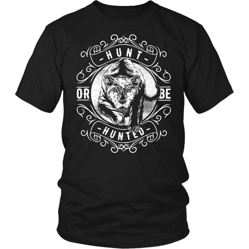 Hunt Or Be Hunted Black And White T-Shirt