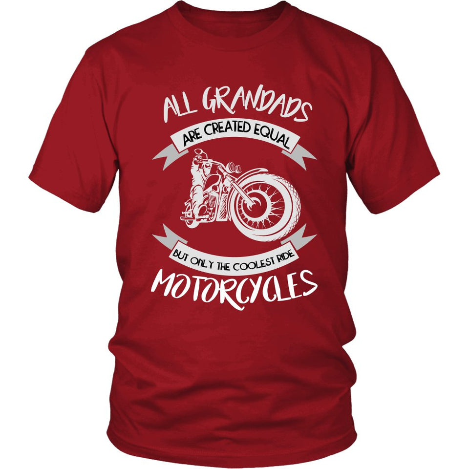 """Only The Coolest Grandads Ride Motorcycles"" T-Shirt"