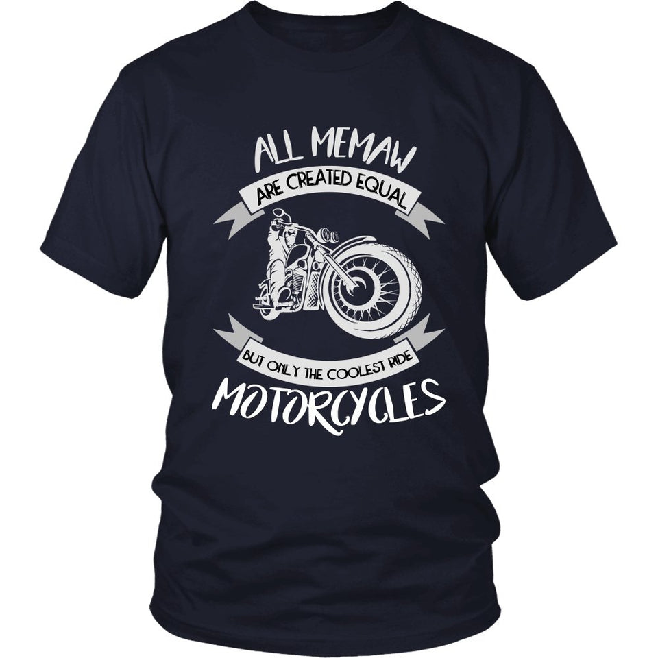 Only The Coolest Memaw Ride Motorcycles T-Shirt