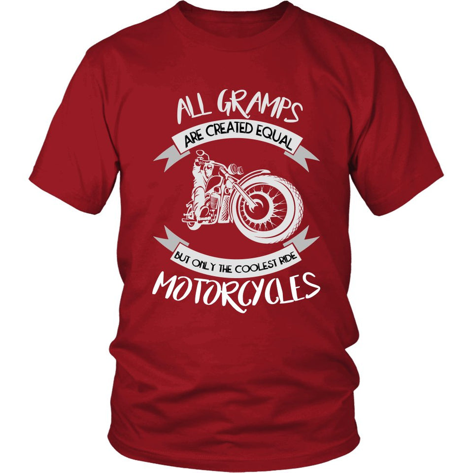 """Only The Coolest Gramps Ride Motorcycles"" T-Shirt"