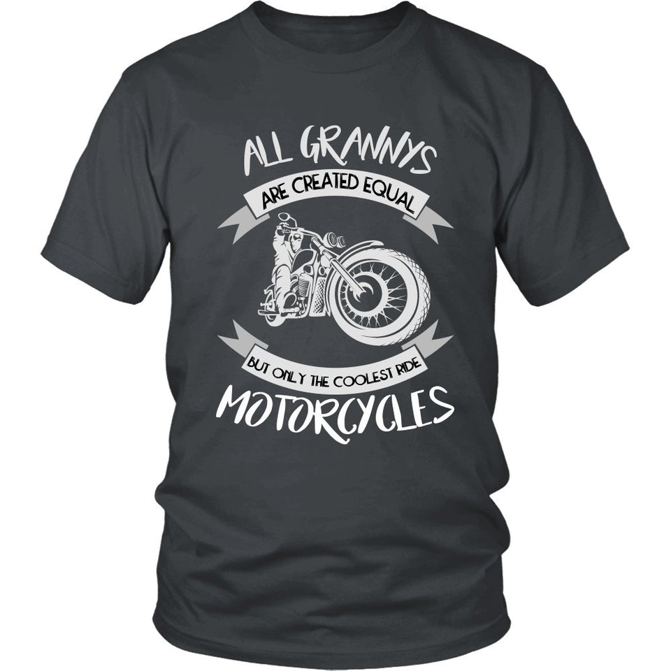 """Only The Coolest Grannys Ride Motorcycles"" T-Shirt"