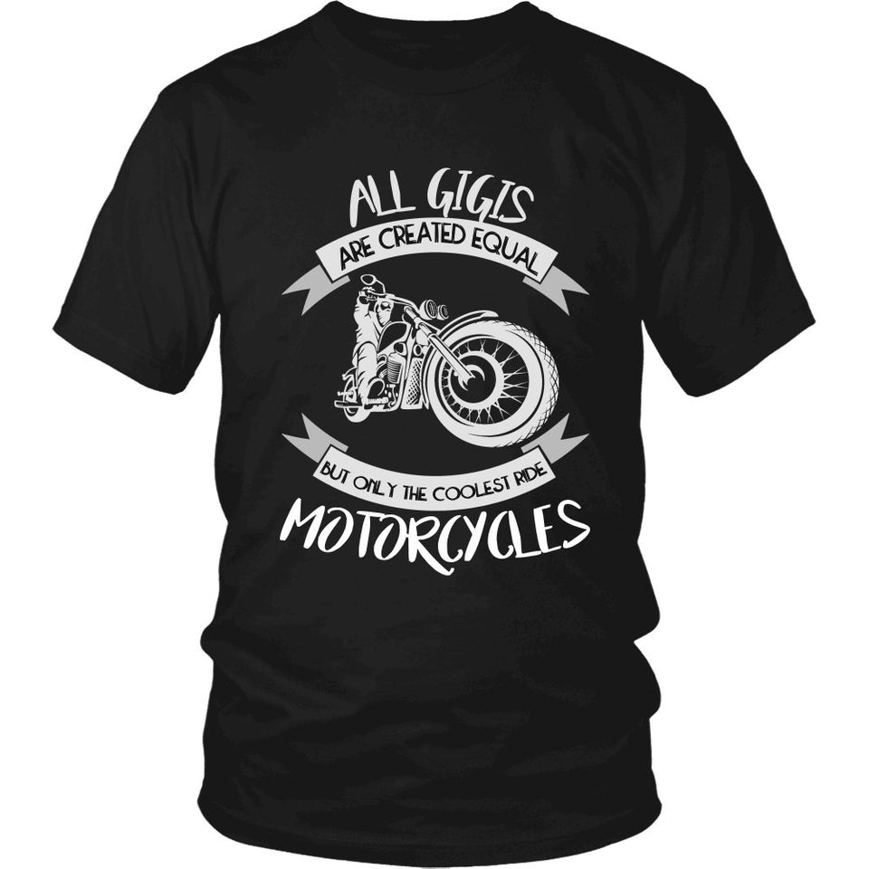 """Only The Coolest Gigis Ride Motorcycles"" T-Shirt"