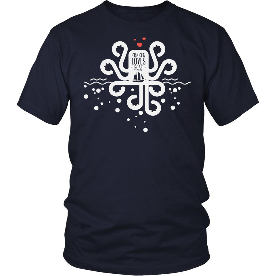 Kraken Loves Boat T-Shirt