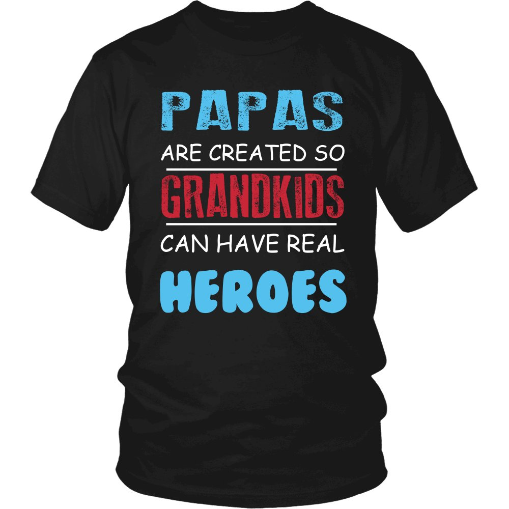 Papas - Grandkids Real Hero T-Shirt