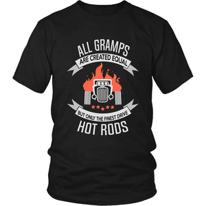 """Only the Finest Gramps Drive Hot Rods"" T-Shirt"
