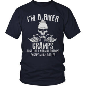 """I'm a Cool Biker Gramps"" T-Shirt"