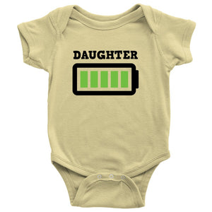 """Daughter Full Charged"" T-Shirts and Onesie"