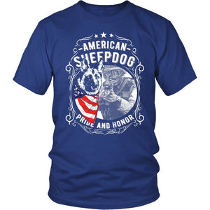 American Sheepdog Pride And Honor T-Shirt