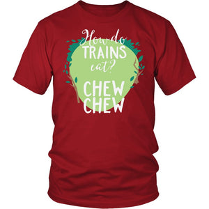How Do Trains Cat? Chew Chew T-Shirt