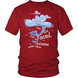 I'm Not A Girl I'M A Storm With Skin T-Shirt