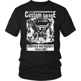 Custom Motorcycle Garage T-Shirt