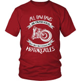 Only The Coolest Paw Paws Ride Motorcycles T-Shirt