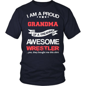 """Proud Grandma of An Awesome Wrestler"" T-Shirt"