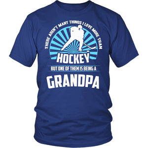 This Grandpa Loves Hockey T-Shirt