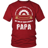 This Papa Loves Woodworking T-Shirt
