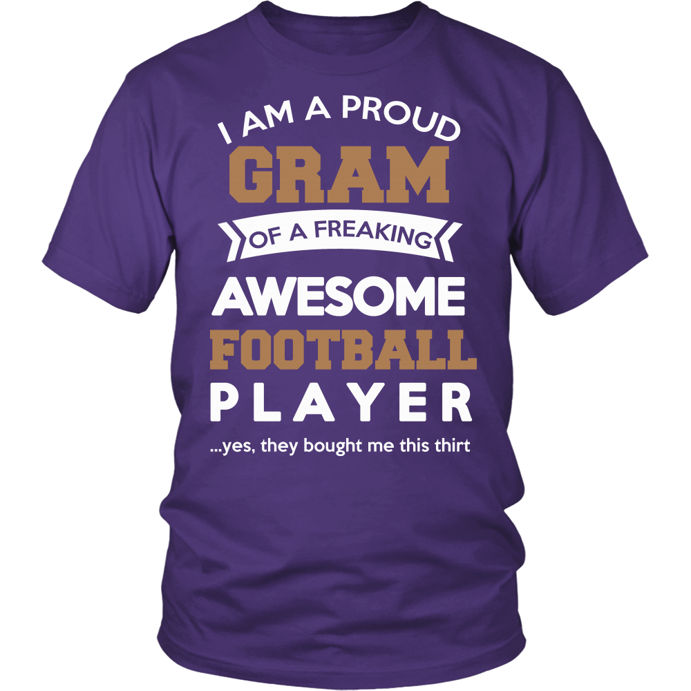 Proud Gram of An Awesome Football Player T-Shirt