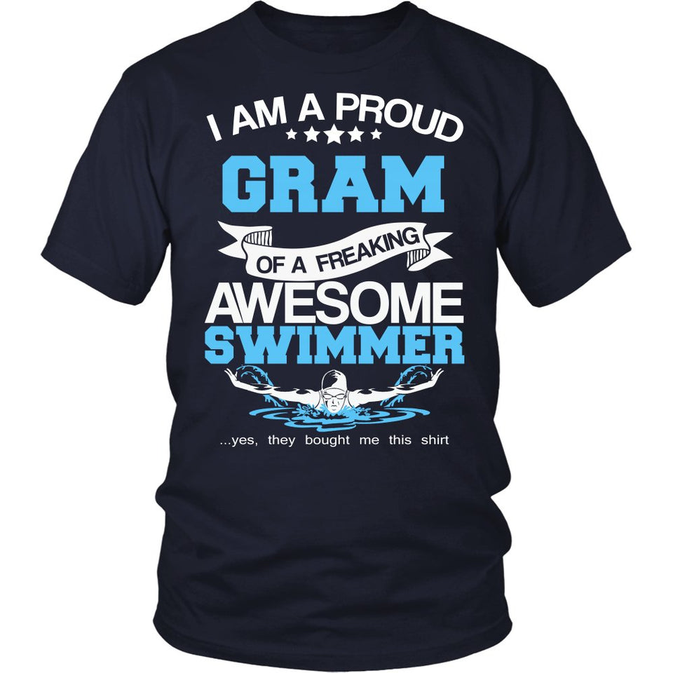 Proud Gram of An Awesome Swimmer T-Shirt