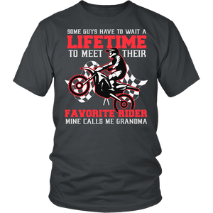 """Favorite Motocross Rider - Mine Calls Me Grammy"" T-Shirt"