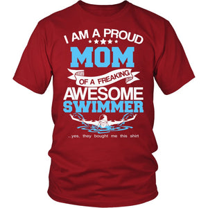 Proud Mom of An Awesome Swimmer T-Shirt