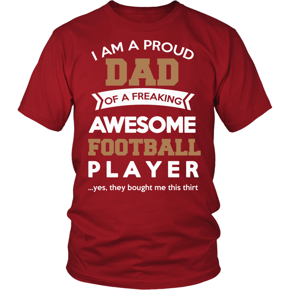 Proud Dad of An Awesome Football Player T-Shirt