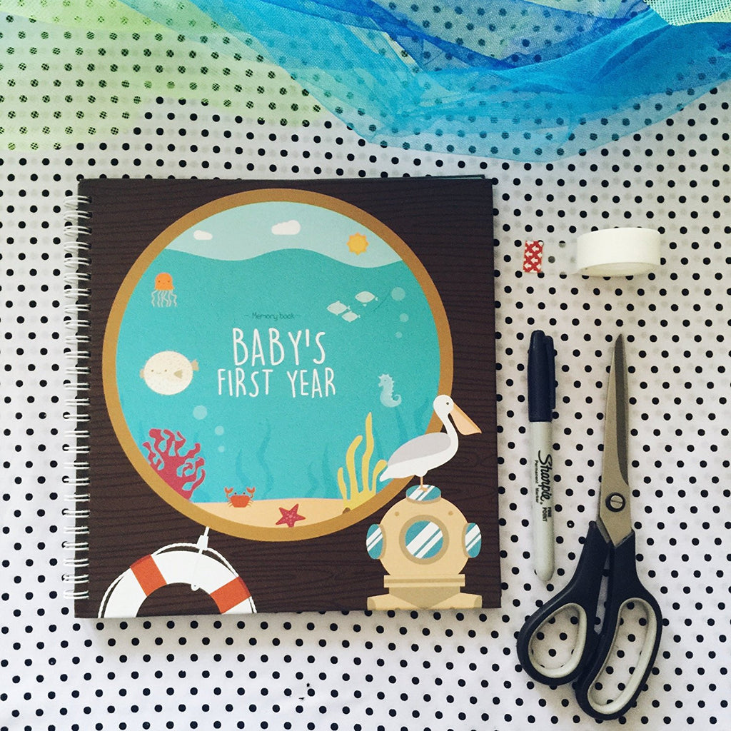 FREE baby boy printables. Beautiful printable memory book pages!