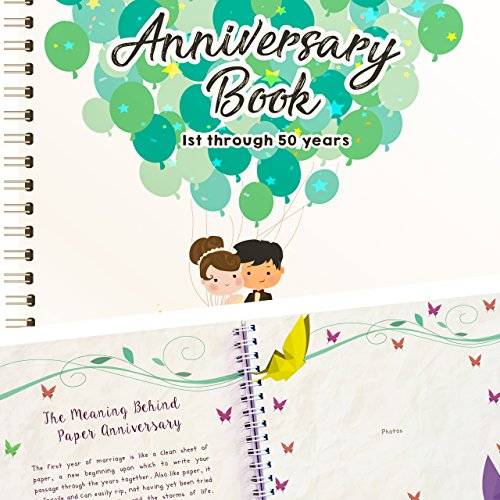 Anniversary Memory Book 50 Years - Balloons Edition
