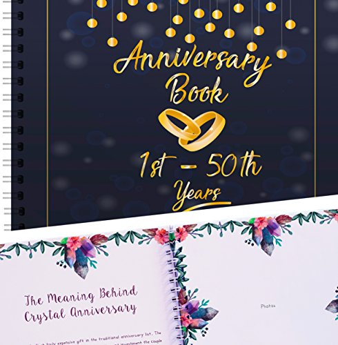Wedding Anniversary Memory Book 50 Years - Rings Edition