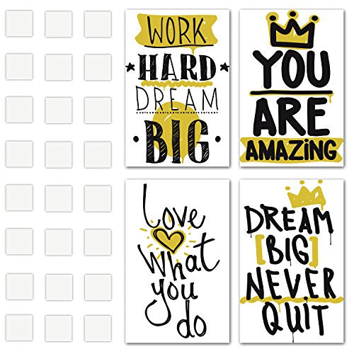 Set of 4 Inspirational Wall Art - Motivational Posters