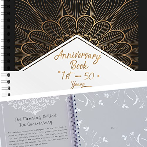 Anniversary Memory Book 50 Years - Gold Edition