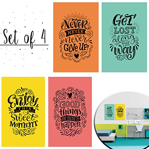 Set of 4 Inspiring and Positive Posters