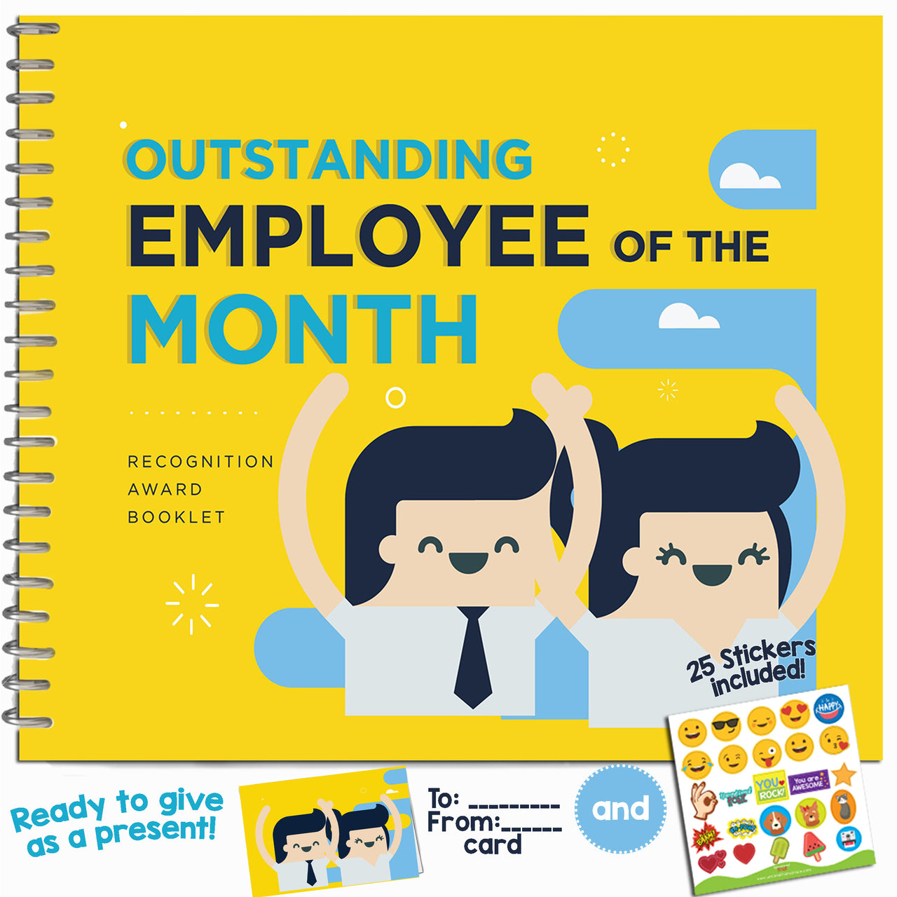 Outstanding Employee of the Month Recognition Award Booklet