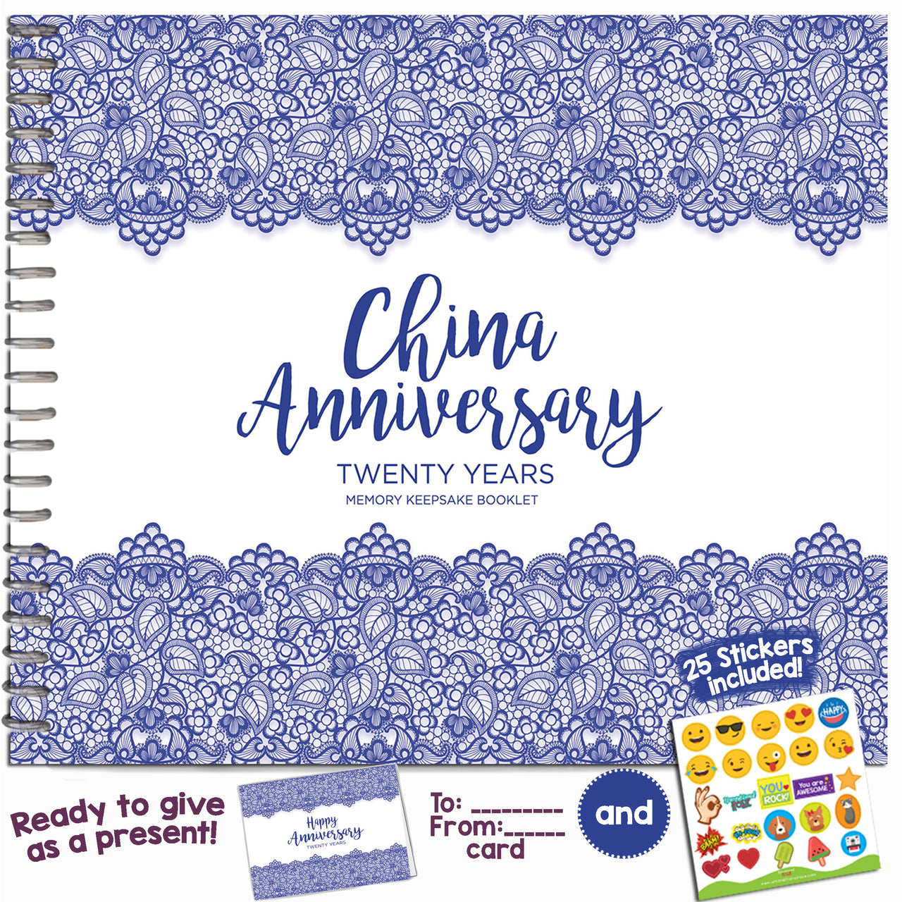 Twenty Year Booklet with Matching Card for China Anniversary