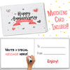 2ND ANNIVERSARY GIFTS FOR COUPLES BY YEAR - Twentyfive Year Booklet with Matching Card for Silver Anniversary.